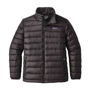Patagonia Boys' Down Sweater Jacket Black Size XL